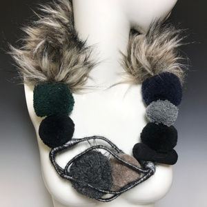 "Ports 1961 Luke Tanabe Fur 26"" Runway Necklace"